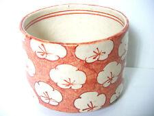 "Japanese Vintage Ceramic mei ""葊 Iori"" Prunus mume Yarn Bowl Knitting Cup Japon"
