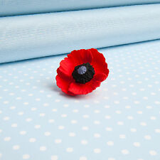 POPPY LAPEL PIN flower jewellery MADE IN WALES UK Hand painted