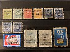 Denmark / Danmark Stamps lot - coupon / Cinderella / Fiscal / Revenue - DK449