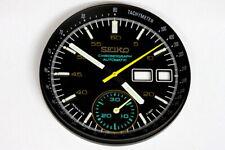 Dial & hands & bezel set for Seiko 6139-7101 black helmet chronograph
