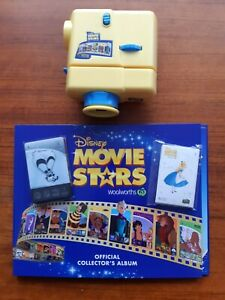 Woolworths Disney Movie Star Full Set Of Cards & Stickers Plus Projector & Album