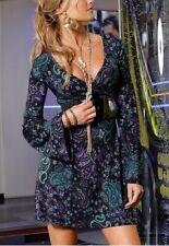 Melrose Tunika Minikleid NEU Gr.32,34 Damen Kleid Bluse Retro Schwarz Gr.XS