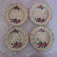 Cuatro Vintage Retro Midwinter Stylecraft Oro Rosas Zaraza tazones de fuente 1962