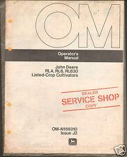 John Deere Rl4 Rl6 Rl630 Crop Cultivator Operator Manual Dealer Service Shop ^