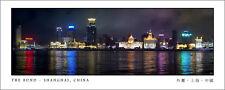 Poster Panorama The Bund Shanghai China Skyline Panoramic Fine Art Print Photo