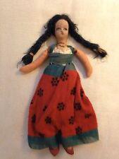 Vintage Mexican Doll - 1941- authentic clothes / hand painted, Juarez, Mexico