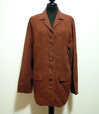 LUISA SPAGNOLI Women's Jacket Cotton Linen Flax Woman Jacket Sz. L