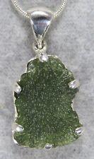 MOLDAVITE PENDANT $89 Tektite Sterling Silver Jewelry STARBORN CREATIONS MP89-S1