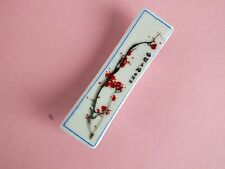 6 RED PLUM BLOSSOM CERAMIC CHOPSTICKS STAND REST CHINESE JAPANESE DINNER PARTY