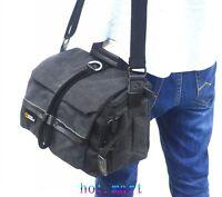 Canvas DSLR SLR Digital Sling Shoulder Bag Backpack For Canon Nikon Sony Black