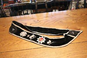 Antique Vintage Knight Templar Masonic Sash Clark Commandery No 7 Ames Sword Co