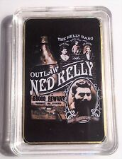 """""""NED KELLY""""  Outlaw Colour Printed HGE 999 24k Gold Ingot/token #20"""