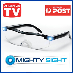 MIGHTY SIGHT LED 160% MAGNIFYING EYEWEAR HD RECHARGEABLE GLASSES - AS SEEN ON TV