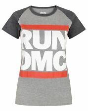 Run DMC Logo Women's Raglan T-Shirt