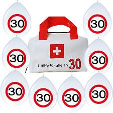 1. Erste Hilfe Tasche + 8 Luftballons lustige Geschenkidee zum 30. Geburtstag 30