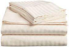 1000TC Egyptian Cotton Fitted Sheet Flat Sheet & 2 Pillowcase Bedding Set STRIPE