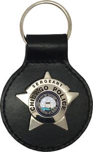 CHICAGO POLICE STAR KEY FOB: Sergeant