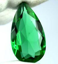Green Tektite Moldavite Birthstone 69.05 Ct Pear 42 x 24 mm AGI Certified H3987