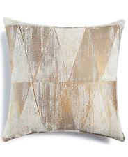 """Hallmart Collectibles Beige Metallic Chenille 18"""" Square Decorative Pillow E3255"""