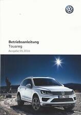 VW TOUAREG  2 Betriebsanleitung 2016 Bedienungsanleitung Handbuch Bordbuch BA