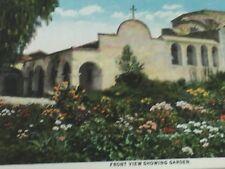 Vintage Mission San Juan Capistrano CA Front Garden Postcard 24997