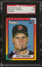 SCOTT ERICKSON 1990 TOPPS TRADED #29T TWINS SGC AUTHENTIC SIGNED AUTO