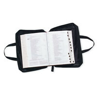 """Bible Cover Black Large Print Bible Cover 7.75 x 10 x 3 """" Durable Book Cover"""