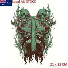 Green Skulls Cross Hard Beauty Tattoo Waterproof Hot Temporary Tattoo Stickers
