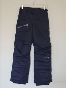 Patagonia Boys' SNOWSHOT Insulated Ski Snow Pants Navy Blue Size XL (14)