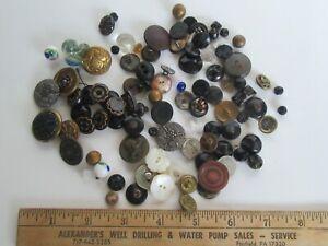 Antique Large Lot Victorian Era Miscellaneous Buttons