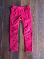 Next Red Girls Skinny Jeans Trousers Aged 9 Years