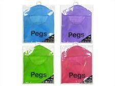 Laundry Peg Bag & Clothes Line Hanger Hooks Basket Bucket Storage 4 Colours