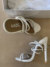 Ego Shoes White Lace Up Sandals High Heels Size 5 US - 35 EU