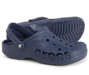 CROCS BAYA Clogs Slip On Sandals Slides Navy Blue NWT : Mens Size 6 Women's 8