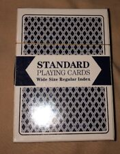 Brybelly Standard Playing Cards Wide Size Regular Index Plastic Coated Blue