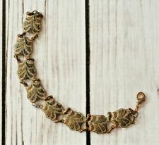antique link bracelet old world style vintage damascene style shell link