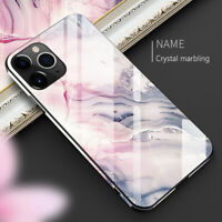 Luxury Marble Tempered Glass Case Cover For iPhone 12 11 Pro Max XS XR 8 7 Plus