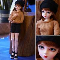 1/3 Mode Mädchen Bjd Puppe Doll + Gesicht Make-up + Perücken + Bewegliche Augen