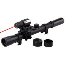Pro Tactical 4X20 Sniper Hunting Rifle Gun Optics Scope Red Laser Sight & Mount