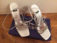 Designer Silver Heels By Stuart Weitzman RRP £225 - UK 6 / Eur 39