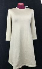 J. MCLAUGHLIN 3/4 Sleeve Crew Neck Dress Sparkly Gold Size X-Small Brand New
