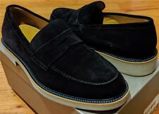 $695 Mens Giorgio Armani Suede Penny Loafers Navy Blue US 10