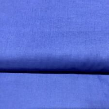 Natural Charm Dazzling Blue Solid Broadcloth 100% Cotton Fabric by the Yard