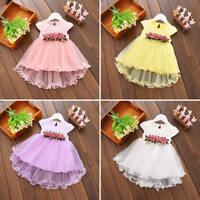 Baby Girls Lace Flower Dress Summer Princess Party Pageant Wedding Tutu Clothes