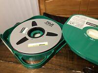 "FUJI H621E 1"" Mastering Video Film Tape for Reel to Reel 1IN x 4620FT Aluminum"