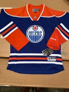 New W/ Tags Womens Reebok Edmonton Oilers Premier Jersey Large