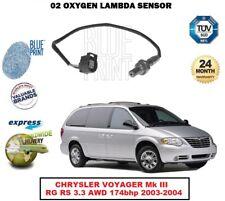 Oxygen Capteur lambda pour Chrysler Voyager MK III RG RS 3.3 AWD 174bhp