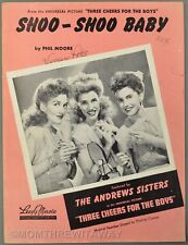 1943 SHOO-SHOO BABY Phil Moore ANDREWS SISTERS Three Cheers for the Boys