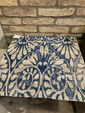 "Pottery Barn Lizzie Print Pillow Cover Blue Decor 20"" New"