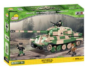 Cobi 2480A - Sd.Kfz.182 Konigstiger (Tiger II) Tank (630pcs) - Building Blocks